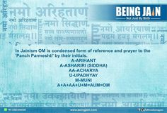#4 In Jainism OM is condensed form of reference and prayer to the 'Panch Parmeshti' by their initials.  A-Arihant A-Ashariri A-Aacharya U-Upadhyay M-Muni  AAAAUM=Aum=Om  #NavkarKareBhavPar by officialbeingjain