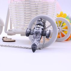 Buy Silver Fancy&Fantasy TV series Firefly Necklace Serenity Space Ship Model Silver Zinc Alloy Necklace Science Fiction Collection Jewelry (Color: Silver) at Wish - Shopping Made Fun