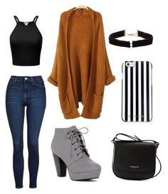 """""""Falling for Comfy"""" by ayla-raine on Polyvore featuring Topshop, Anissa Kermiche, MICHAEL Michael Kors, Lancaster, Fall, cute, orange, comfy and inspiration"""