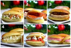 6 mini sandwich-shuttle ideas to make yourself! Mini Sandwiches, Raclette Fondue, Food Porn, Pizza Burgers, Sandwich Cake, Afternoon Tea, Hot Dog Buns, Entrees, Food And Drink