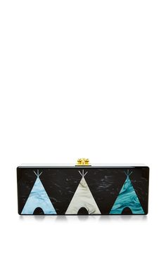 Teepee Motif Rectangular Flavia Clutch by Edie Parker Now Available on Moda Operandi ♥༺❤༻♥