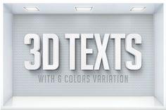 3D Text Effects by Easybrandz on @creativemarket