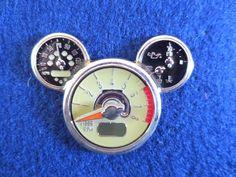 Disney Mickey Mouse Head Car Oil Gauge Icon Tachometer Dashboard Trading Pin #Disney, #DisneytradingPins