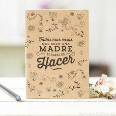Minilibreta - Todas esas cosas que solo una madre es capaz de hacer #notebook #mum