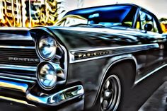 Vintage Pontiac  Print or Canvas