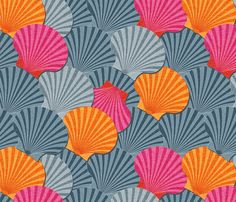 Shelly fabric by spellstone on Spoonflower