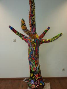 Colorfull sixties tree made for an office! (Made by me)