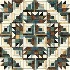 Peacock-what can you NOT do with log cabin blocks?