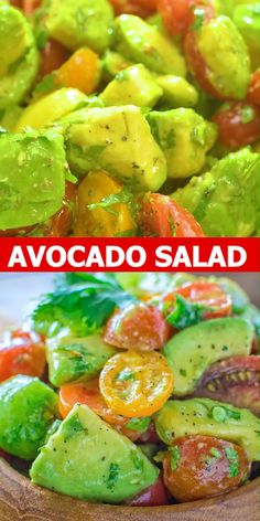 Tomato Avocado Salad - Healthy and so flavorful, this Avocado Tomato Salad make. - Tomato Avocado Salad – Healthy and so flavorful, this Avocado Tomato Salad makes a great additio - Keto Recipes, Vegetarian Recipes, Dinner Recipes, Cooking Recipes, Healthy Recipes, Healthy Salads, Lunch Recipes, Tajin Recipes, Vegan Vegetarian