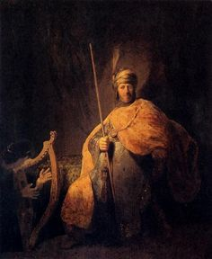 Rembrandt Harmenszoon van Rijn David Playing The Harp To Saul 1629