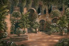 betsy brown prints | French Quarter Courtyard I by Betsy Brown - Art Print Framed ...