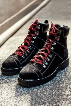 832aea55c5c1f3 UO Bailey High Leather + Shearling Hiker Boots. Urban Outfitters WomenBaileysStreet  WearSneakersPretty ShoesShoe ...