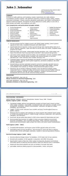 Electrical Engineer Resume Sample (resumecompanion - experienced resume sample