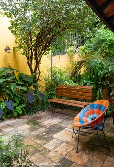 Atrium, Outdoor Furniture, Outdoor Decor, New Homes, Park, Garden, Inspiration, Home Decor, Inside Garden