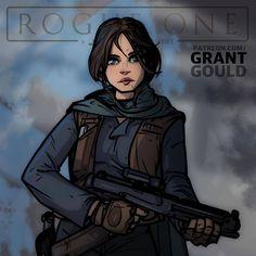 "Epic Comic Book Lover on Instagram: ""Rogue One Jyn by @grant_gould_art #JynErso #FelicityJones #RogueOne #StarWars #StarWarsTheForceAwakens #TheForceAwakens #ANewHope #TheEmpireStrikesBack #ReturnOfTheJedi #PhantomMenace #AttackOfTheClones #RevengeOfTheSith #GeorgeLucas #MayTheForceBeWithYou"""