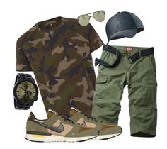 """""""urbanCamo"""" by fashionknot15 ❤ liked on Polyvore featuring Valentino, NIKE, Under Armour, Original Penguin, Rip Curl, men's fashion and menswear"""