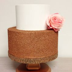 Two tier glitter fake cake. Wedding or bridal shower cake. and fake cake. by SimplySweetShopNOLA on Etsy Glitter Art, Glitter Shoes, Flower Cake Toppers, Glitter Glasses, Fake Cake, Pastry Art, Glitter Ornaments, Cake Wedding, Shower Cake