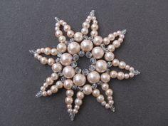 564de507f82 Vánoční vločka velká sv.růžová perličková   Zboží prodejce renda39