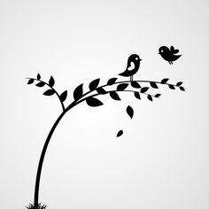 Tak met vogels 4 - Dewiha Art - Muursjablonen en Muurstickers