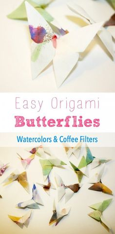 Easy to make these watercolor and coffee filter butterflies are just too beautiful!