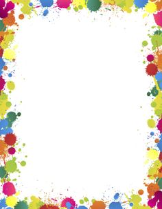 Free paint splatter border templates including printable border paper and clip art versions. File formats include GIF, JPG, PDF, and PNG. Page Boarders, Boarders And Frames, Page Borders Design, Border Design, Clipart, Cadre Design, Printable Border, Printable Labels, School Border