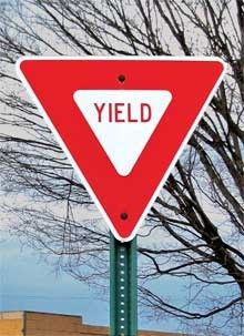 Tradition Creek Yield [park facil 656 Y] - 24 by 24 Yield Sign Printed on heavy aluminum gauge) Reflective signs made with engineering grade reflective sheeting
