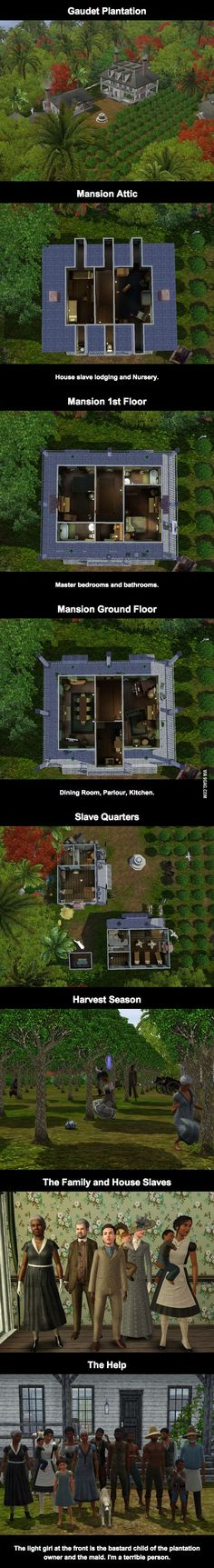 Weird People and their Sim Games: This person created a Realistic Sims plantation