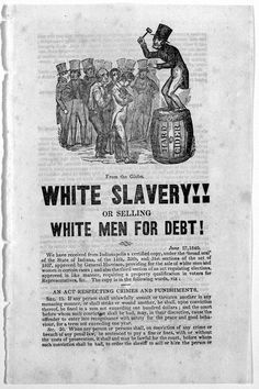 The suppressed History of White Slavery in America- Date June 27, 1840- Source; Library of Congress