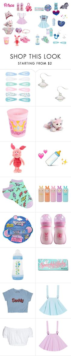 """little playdate"" by unicorn-923 ❤ liked on Polyvore featuring claire's, Aurora World, Disney, Forever 21, TONYMOLY, Cotton Candy, Old Navy, Sugarpill, GERMAN PRINCESS and Børn"