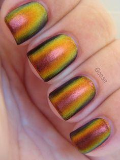 Sally Hansen Nail Prisms Amber Ruby Swatch