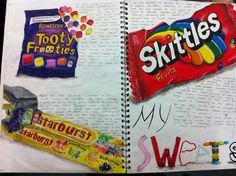 A level art / gcse art food project sketchbook layout Joel penkman packaging and mass consumerism A* coursework A Level Art Sketchbook, Sketchbook Layout, Sketchbook Drawings, Sketchbook Pages, Sketchbook Inspiration, Sketchbook Ideas, Sketchbook Challenge, Drawing Sketches, Pencil Drawings