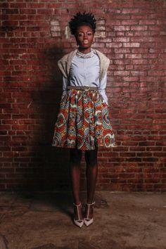 The Maggie African Print 100 Holland Wax by DemestiksNewYork, $95.00