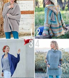 A collection of free crochet sweater patterns designed by Jess Coppom of Make & Do Crew using Lion Brand Yarn.