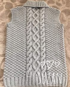 Knitting Stitches, Baby Knitting, Knitting Patterns, Diy Crafts Knitting, Knit Vest Pattern, Bolero, Seed Stitch, Crochet Baby Clothes, Knitted Coat