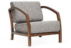 Velda Accent Chair, Gray/Brown | onekingslane.com