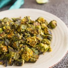 Super simple and quick. Made with frozen okra and it's not slimy at all.
