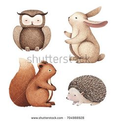 Find Watercolor illustrations of cute animals stock illustrations and royalty free photos in HD. Explore millions of stock photos, images, illustrations, and vectors in the Shutterstock creative collection. of new pictures added daily. Autumn Illustration, Watercolor Illustration, Animals Images, Cute Animals, Jolly Phonics, Fruit Art, Baby Art, Watercolor Animals, Baby Prints