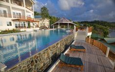 Swim-out suites at Calabash Cove, St. Lucia