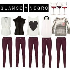 A fashion look from September 2012 featuring zip jeans, River Island and handbag purse. Browse and shop related looks. Burgundy Pants Outfit, Colored Pants Outfits, Outfits Leggins, Burgundy Jeans, Outfit Pantalon Vino, Wine Pants, Chic Outfits, Fashion Outfits, Fall Winter Outfits