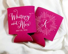 Personalized Monograms! Any name, initial, color combination, style!!  CHOOSE UP TO 4 KOOZIE COLORS WHEN ORDERING OVER 50 QUANTITY!!  * Go here for