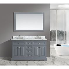 Picture Gallery Website Rochelle Wood Bathroom Sink Vanity Set with White Italian Carrara Top