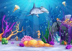 Gambar Hewan Bawah Laut Kartun Ideku Unik