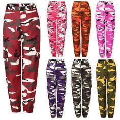 FOCUSNORM - FOCUSNORM Women's Camouflage High Waist Hip Hop Jogger Pants - Walmart.com - Walmart.com Army Pants, Trouser Pants, Long Sleeve Mesh Bodysuit, Camouflage Cargo Pants, Camo Jogger Pants, Sport Pants, Joggers, Sweatpants, Hip Hop