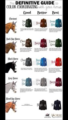 colored jacket chart
