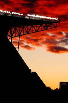 Sunset at Husky Stadium