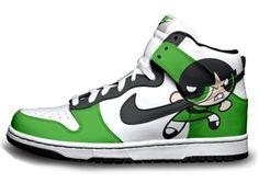 buttercup powerpuff girls | powerpuff girls nike buttercup dunks green shoes tags nike powerpuff