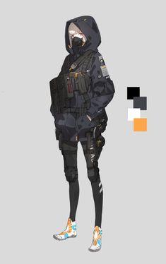 neco on - Best Image Portal Mode Cyberpunk, Cyberpunk Anime, Cyberpunk Fashion, Female Character Design, Character Design Inspiration, Character Concept, Character Art, Cool Anime Girl, Anime Art Girl