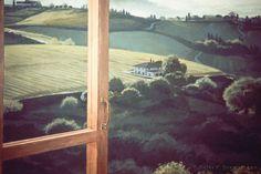 Wine Cellar Window Mural (detail), acrylic on wood panel, private residence © Peter K. Engelsmann