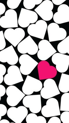 Turn your iPhone background into a work of heart with Incase's pop heart wallpaper in black, white, and pink.