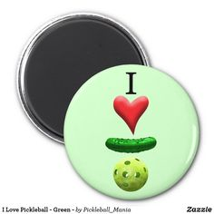 I Love Pickleball - Green - Magnet